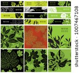 set of stylish floral web... | Shutterstock . vector #1007467108