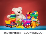 bear and clorful toys | Shutterstock . vector #1007468200