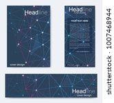 set flyer  brochure size a4...   Shutterstock .eps vector #1007468944