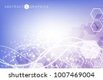 structure molecule and... | Shutterstock .eps vector #1007469004