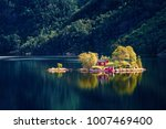 beautiful summer view of small... | Shutterstock . vector #1007469400