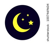mysterious night sky moon and...   Shutterstock .eps vector #1007469604