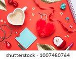 valentines day  love background.... | Shutterstock . vector #1007480764