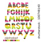 alphabet set design. vector... | Shutterstock .eps vector #100748140