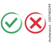 yes or no paint vector icon... | Shutterstock .eps vector #1007483299