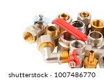 plumbing fitting and tap ... | Shutterstock . vector #1007486770
