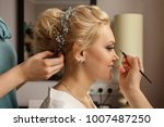 bride with smoky eyes. wedding... | Shutterstock . vector #1007487250