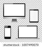 set computer  laptop  tablet ... | Shutterstock .eps vector #1007490070
