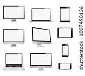 realistic set computer  laptop  ... | Shutterstock .eps vector #1007490136