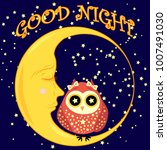 good night. postcard with a... | Shutterstock .eps vector #1007491030