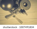 sports equipment  fitness and... | Shutterstock . vector #1007491834