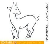 goat zodiac sign. sheep chinese ...   Shutterstock .eps vector #1007492230