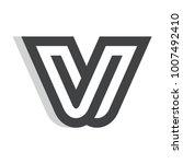 a letter logo template for... | Shutterstock .eps vector #1007492410