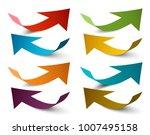 paper arrows. vector colorful... | Shutterstock .eps vector #1007495158
