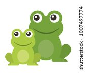 frog cute animal sitting cartoon | Shutterstock .eps vector #1007497774