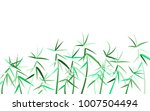 bamboo twigs background.... | Shutterstock .eps vector #1007504494