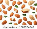 almonds isolated on white... | Shutterstock . vector #1007506360