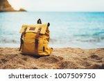 hipster hiker tourist yellow... | Shutterstock . vector #1007509750