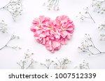 Heart Shape Made Of Flowers On...