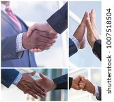 collage of multiethnic business ... | Shutterstock . vector #1007518504