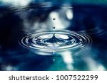 blue water drop | Shutterstock . vector #1007522299