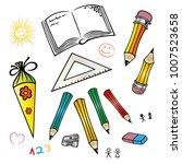 beginning of school vector set. | Shutterstock .eps vector #1007523658