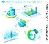 3d infographic elements | Shutterstock .eps vector #1007524009