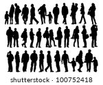 vector drawing of a collection... | Shutterstock .eps vector #100752418