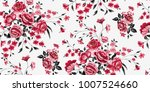 seamless floral pattern in... | Shutterstock .eps vector #1007524660