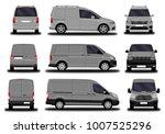 realistic cargo van. front view ...   Shutterstock .eps vector #1007525296