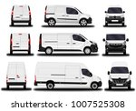 realistic cargo van. front view ... | Shutterstock .eps vector #1007525308