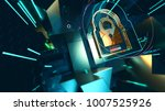 abstract crypto cyber security... | Shutterstock . vector #1007525926