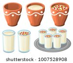 indian thandai hot drink ... | Shutterstock .eps vector #1007528908