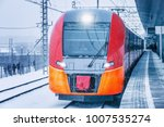 highspeed train stands by the... | Shutterstock . vector #1007535274