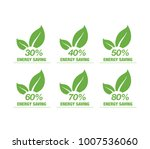 save energy. save percent icon. ... | Shutterstock .eps vector #1007536060