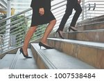 couple of businesswoman going... | Shutterstock . vector #1007538484