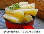 cooked manihot esculenta ... | Shutterstock . vector #1007539456