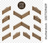 set of wooden isometric fences... | Shutterstock .eps vector #1007539609