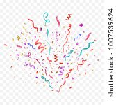colorful confetti burst...   Shutterstock .eps vector #1007539624