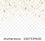 golden confetti isolated on... | Shutterstock .eps vector #1007539630