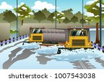 a vector illustration of snow... | Shutterstock .eps vector #1007543038