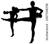 black silhouette of girl... | Shutterstock .eps vector #1007548258
