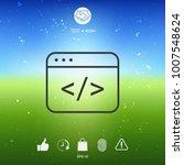 code editor icon | Shutterstock .eps vector #1007548624