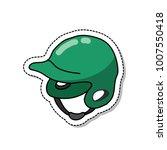 baseball helmet doodle icon | Shutterstock .eps vector #1007550418