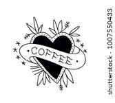 heart coffee illustration...   Shutterstock .eps vector #1007550433