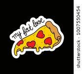 pizza illustration traditional... | Shutterstock .eps vector #1007550454