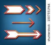 arrow design of retro electric... | Shutterstock .eps vector #1007551966
