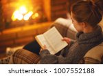young woman enjoys reading a... | Shutterstock . vector #1007552188