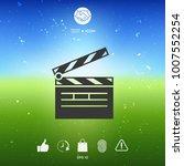 clapperboard symbol icon   Shutterstock .eps vector #1007552254