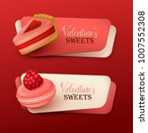 set of valentine s day banners... | Shutterstock .eps vector #1007552308